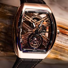 Crazy Franck Muller Vanguard Tourbillon in rose gold.