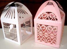 Caixas Gaiolinhas de Papel da PolkaDot! Usadas para lembrancinhas ou para decoração!