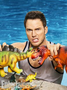 """""""Jurassic World"""" star rounds up some dino buddies and rides the wave of anticipation for blockbuster season"""