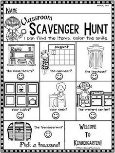 Kindergarten-Open-House-Meet-and-Greet-or-Orientation-Scavenger-Hunt-1983316 Teaching Resources - TeachersPayTeachers.com