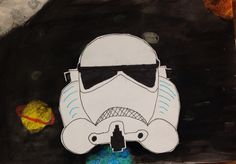 StarWars art project ink resist and drawing art education Andrea Budé