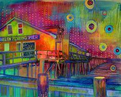 """""""Avalon Pier"""" by Carolina Coto. You can see  more at www.carocoto.com and www.facebook.com/ArteCarolinaCoto"""