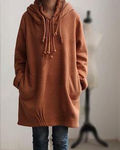 Autumn hood loose long sleeved Coat. $79.00, via Etsy.