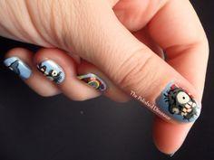 Plants vs zombies nail art