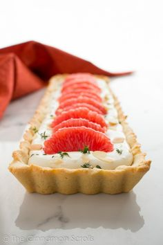 This nearly-no-bake gluten-free tart is a stunning addition to any holiday table. The combination of biting grapefruit and fresh thyme complements the honey-sweetened mascarpone filling, while the toasted almonds tie into the easy almond flour crust. Not only is this tart beautiful to serve, it's also a snap to make! I love easy recipes. While I think …