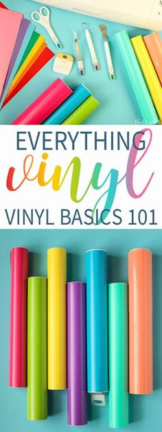 Are you a new owner of a Silhouette or Cricut, this Vinyl Basics post is for you! Learn all about this awesome craft medium & how it can rock your craft world! #cricut #silhouette #vinyl via @cspangenberg