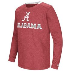 1826f1e78a97 Alabama Crimson Tide Youth NCAA Steff Long Sleeve T-Shirt - Team Color