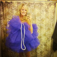 DIY Loofah Costume! If you have 20 bucks and 20 minutes, you can make this!