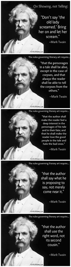Mark Twain quotes on writing... Hopey, I repinned this for you :)