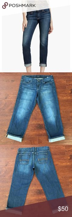 """Lucky Brand Sweet Jean Crop EUC/Inseam Folded:22 1/2"""" unfolded:24"""" 99%cotton 1%spandex Lucky Brand Pants Ankle & Cropped"""