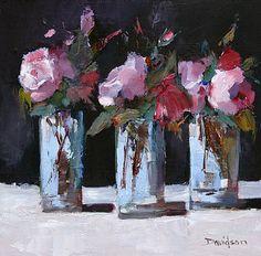Scottish Artist Mary DAVIDSON-Pink Roses