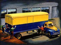 Plan59 :: Classic Truck Art :: Trailmobile, 1950