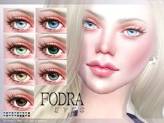 The Sims Resource: Fodra Eyes N96 by Pralinesims • Sims 4 Downloads