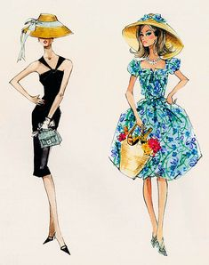 (••)                                                                 fashion illustration                                                             Barbie Illustration by Robert Best