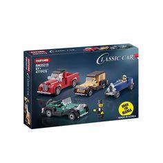 Oxford Brick for Mania Classic Car Brick Blocks Toy Set Kit 4 Cars New BM35219 #Oxford