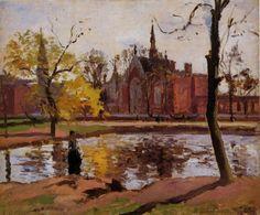 source: Impressionism-art-blog@tumbler.  Dulwich College London, 1871.   Camille  Pissarro