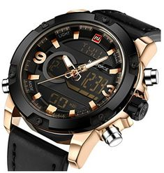 Cheap masculino, Buy Quality masculinos relogios directly from China masculino watch Suppliers: NAVIFORCE Luxury Brand Men Analog Digital Leather Sports Watches Men's Army Military Watch Man Quartz Clock Relogio Masculino Men's Watches, Luxury Watches, Cool Watches, Watches For Men, Analog Watches, Fashion Watches, Wrist Watches, Mens Sport Watches, Mens Watches Leather