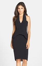 Clove Peplum Halter Sheath Dress