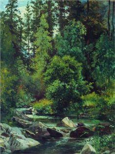 Forest River - Ivan Shishkin