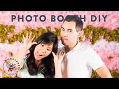 A DIY Photo booth Backdrop Wall - Honeysuckle Photo Booth Wall, Diy Photo Booth Backdrop, Diy Wedding Backdrop, Diy Wedding Decorations, Photo Booths, Wedding Show, Wedding Wall, Party Background, Simple Photo