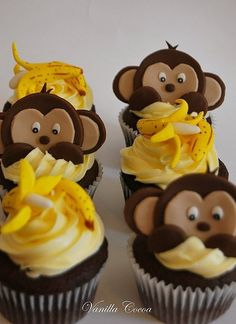 monkey cupcake - so cute!!!!!