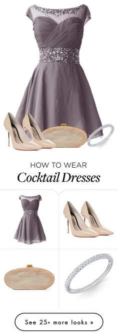 """sister's wedding"" by lilly517 on Polyvore featuring Edie Parker and Sophia Webster"