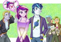 Explore the Equestria Girls - Human MLP collection - the favourite images chosen by DamselDoodles on DeviantArt. My Little Pony Comic, My Little Pony Drawing, My Little Pony Pictures, Equestria Girls, Twilight, Princess Cadence, Little Poni, Mlp Fan Art, Mlp Comics
