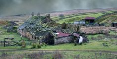 """wolfcleugh rain,"" abandoned cottages in Weardale by sparty lea via Flickr"