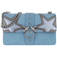 Pinko Shoulder Bag - Love Denim Crossbody Bag Azzurro Argento - in...  (6 fe0f73e9443