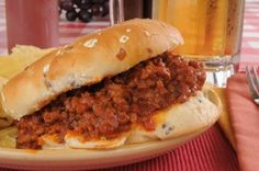 Dr Oz: Hungry Girl's Sloppy Jane Recipe & Reduced Fat String Cheese {use a GF bun}