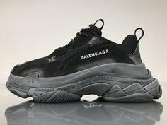 54df658c9cb8 Balenciaga Triple S 483547W06E11000 All Black Shoes 1 All Black Shoes