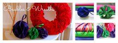How to make hand-stitched felt baubles and 'no stitch' felt wreaths. https://www.etsy.com/uk/listing/164027230/pdf-felt-ruffle-wreath?ref=shop_home_active