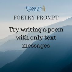 Modern times poetry inspiration to try!