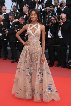 Jourdan Dunn in ELIE SAAB Haute Couture Spring Summer 2017 at the 'The Killing Of A Sacred Deer' screening during the 70th annual Cannes Film Festival.