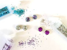 Use this tutorial to make sparkly studs.