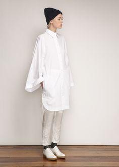 Acne Studios Caden Tech Dress (Paper White)