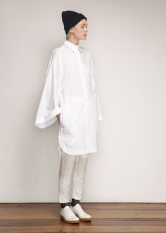 Acne Studios Caden Tech Dress (Paper White)