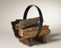 selection of log carriers individually hand crafted from vintage oak whisky barrels - every piece is unique Log Carrier, Firewood, Barrel, Crafts, Autumn, Ideas, Woodburning, Manualidades, Barrel Roll