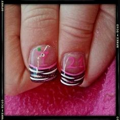 I love these but I would want yhem blingier lol 21st Birthday Nails, 21 Birthday, 21st Bday Ideas, Birthday Ideas, Zebra Nails, Beauty Hacks, Beauty Tips, Hair And Nails, Nail Designs