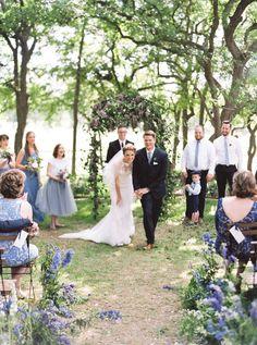 #EnzoaniRealBride Maegan in Isla wedding dress / Southern Weddings