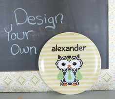 Design Your Own Personalized Melamine Plate by by PETUNIAS on Etsy, $21.50