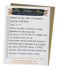 Checklist Card