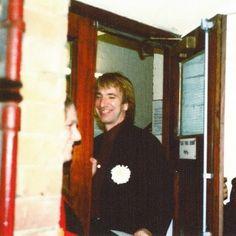 1991 - Alan Rickman at the stage door. -- Saved by Anna Adimari