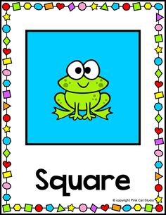 These fun frog theme 2D and 3D shapes posters will look fantastic on your classroom wall! Thirty full color shapes posters that are editable for any language. By Pink Cat Studio
