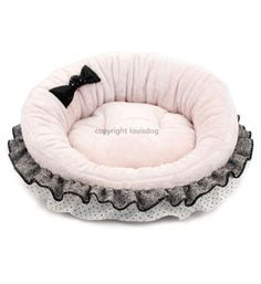 Fancy Pet Beds 'Ally's House' Designer Louis Dog Pink Or Cream Gray