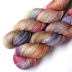 Silky 50/50 SW Merino and Silk Yarn - Prairie Garden, 435 yards