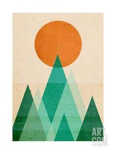 No Mountains High Enough Giclee Print by Budi Kwan at Art.com