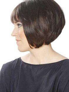 49 Chic Short Bob Hairstyles & Haircuts for Women in 2018 Bob Haircuts For Women, Short Bob Haircuts, Short Hair Cuts For Women, Short Hair Styles, Short Cuts, Haircut Short, Layered Haircuts, Bob Haircut For Round Face, Line Bob Haircut