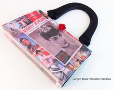 Audrey Hepburn Recycled Book Purse  Breakfast At by NovelCreations