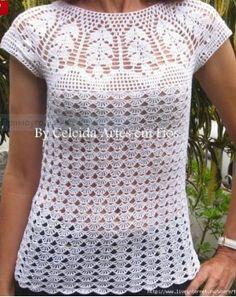 Схема для топика / Вязание крючком / Женская одежда крючком. Схемы и описание